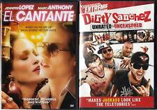 El Cantante (DVD, 2007) & Dirty Sanchez(DVD, Unrated) 2 Brand New DVDs