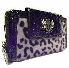 BLACK LYDC Designer animale leopardo Stampa Coccodrillo LADY WALLET PURSE BOXED gioco