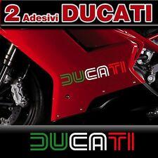 2 Adesivi DUCATI OLD Style Tricolore
