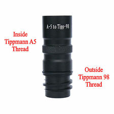 New Tippmann A5 To Tippmann 98, US ARMY ALPHA BLACK Paintball Barrel Adapter