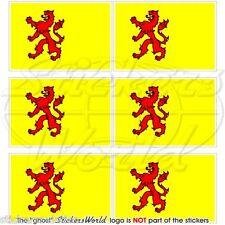 SÜDHOLLAND Provinz Flagge Niederlande Fahne Zuid-Holland Mini-Aufkleber 40mm x6