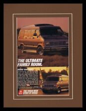 1989 Dodge Ram Van Framed 11x14 ORIGINAL Vintage Advertisement