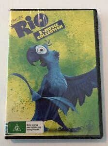Rio / Rio 2 DVD NEW & SEALED** 2-Movie Collection Rated G Region 4 Aus Kids