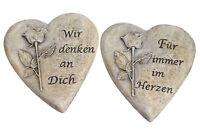 1 dio Only for You 376-68           Trauerherz 9,5x10cm rost /'In Liebe/' braun