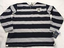 U.S. Polo Assn Men's Size 2XL Long Sleeve Stripe Polo Shirt 100% Cotton NWT