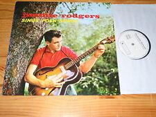 JIMMIE RODGERS - SINGS FOLK SONGS / GERMANY RE-WHITE-PROMO-LP