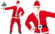 Costume Babbo Natale Economico Taglia Unica Uomo Travestimento Santa Claus