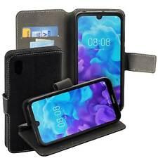 Book Style Case mit Standfunktion f Huawei Y5 2019 Schutz Hülle Tasche schwarz
