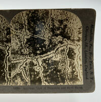 Keystone Stereoscope WWI Aerial Airplane View Of Trenches & Shell Holes 19-3041D
