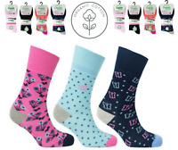 Ladies EAZY GRIP Organic Cotton Socks Womens Non Elastic Ankle Socks Size 4-8