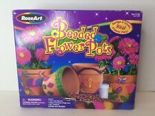 RoseArt Beaded Flower Pots Design And Create Set Gardening Plants Kids Craft Kit