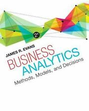 Business Analytics by James R. Evans 2nd Edition 978-0321997821
