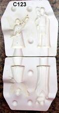 Riverview # 353 Christmas Nativity Shepherd & Angel Ceramic Molds (C123)