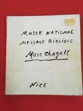 MUSEO NACIONAL MENSAJE BÍBLICO MARC CHAGALL NIZA LIBRO DE ARTE