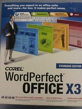 Corel WordPerfect Office X3 Quattro Pro X3 Micsoft Office and PDF Compatible