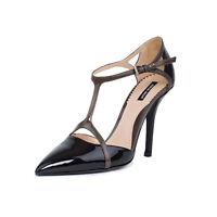 Giorgio Armani Pumps Women Black Patent Leather Pointed Toe Shoes US 10 EU 40