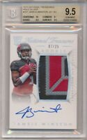 JAMEIS WINSTON 2015 NATIONAL TREASURES RC SILVER AUTO PATCH #/25 BGS 9.5 GEM 10