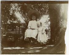 Photo Tirage Au Citrate Petite Fille Poupée Doll Jeux Jouet 1894