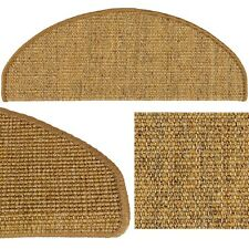 Sisal Stair Tread Mat Stair Cover Natural Fibre Staircase Dark Beige 22x56cm
