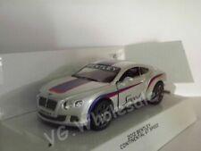 "2012 Bentley Continental GT Speed Silver Die Cast Metal Model Car 5"" New In Box"