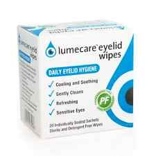 Lumecare Cleansing Eyelid Wipes Refreshing Cooling & Soothing Pack of 20 Wipes