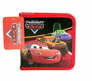 24 CD DVD Organizer Storage Case CARS McQueen & Friends Red NWT N