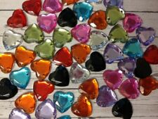 50 Small Heart Gems Valentine's Day Card Making Scrapbook Craft Embellishments