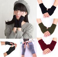 100% Mongolia Pure Cashmere Wool Fingerless Thick Women Woman Gloves Mitten BTUS