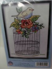 """Design Works BIRDCAGE Counted Cross Stitch Kit 5"""" x 7"""""""