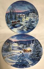 1993 Tis The Season Collector Plates By Jean Sias (Set Of 2)