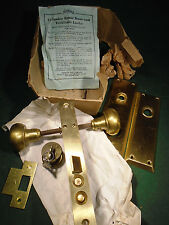 NEW OLD STOCK NORWALK ENTRY MORTISE LOCK w/ CYLINDER & KEYS & PLATES (8603)