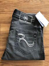 NWT Rock & Republic CBG3850 Scourge Gray Relaxed Straight Leg Sz 29 $215