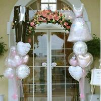 FO01 1 Paar Braut Bräutigam Kleid Form Folie Helium Ballons Hochzeit Dekor CJ