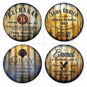 Personalized Round Table Top, Size 24'' or 30'', Handmade Custom Artwork on Wood