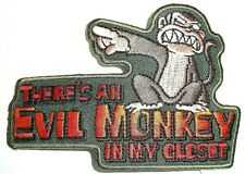 "Family Guy ""There's An Evil Monkey in my Closet"" Embroidered Patch -new"