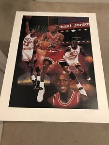 Michael Jordan / Danny Day Dual Signed 22x28 Lithograph(JSA)