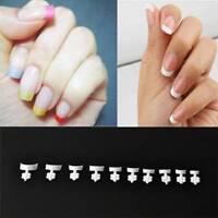 500Pcs Short French Manicure White Wrap Nail Tips False Nails Wraps Acrylic