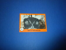HORROR MONSTERS card #85 Nu-Cards 1961 orange series - monster sf movies