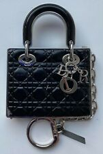 DIOR CHARM MIRROR BLACK SILVER METAL BAG LADY DIOR GLOSS FOR FACE CHEEKS LIPS