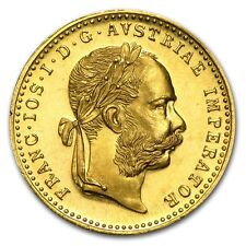 1915 ~ .1107~OZ of PURE  GOLD ~ AUSTRIAN ~ 1~DUCAT ~ BU PROOF~LIKE ~ $9.99 ~ BID