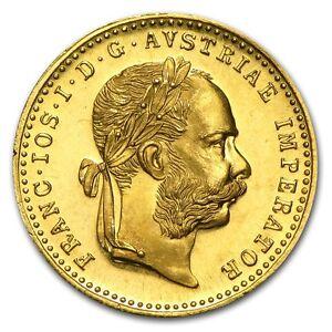 1915 ~ .1107~OZ of PURE  GOLD ~ AUSTRIAN ~1~DUCAT~ BU PROOF~LIKE ~ $318.88 ~ BUY
