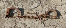 ANTIQUE LEG IRONS & HAND CUFFS SHACKLES KEY PLUS RARE