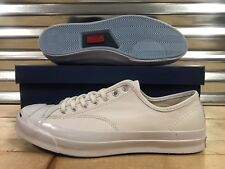 dded149f0f3e Converse Jack Purcell JP Signature Ox Shoes Triple White Blue SZ ( 149909C )
