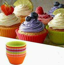 Silicone Reusable Cupcake Cases, 7 cm - Pack of 12