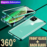 For iPhone 11 Pro XS Max XR 8 7 360° Magnetic Adsorption Double Sided Glass Case