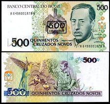 BRAZIL 500 CRUZADOS UNC  # 849