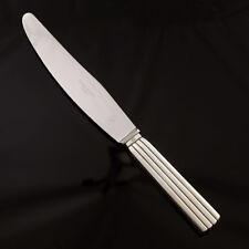 Georg Jensen Silver Dinner Knife, Short Handle, Serrated - Bernadotte - New