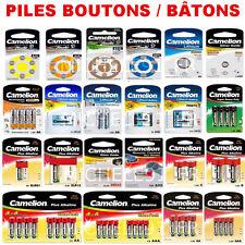 Piles boutons 1,5V Alcaline - Modèle AG13 LR44 LR1154 357 LR41 LR43 LR54 LR66