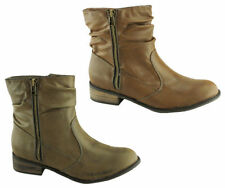 Isabella Brown Synthetic Zip Shoes for Women