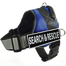 NEW SERVICE DOG VEST Reflective Harness Removable label Patches SEARCH & RESCUE